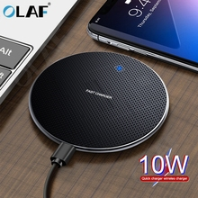 Olaf 10W Qi Wireless Charger Pad for Samsung Galaxy S8 S9 S10 iPhone 1