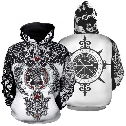 Tessffel Unisex Viking Tattoo Art New Fashion MenWomen HipHop 3D Print Sweatshirts/Hoodie/shirts/Jacket Harajuku Casual Style-1