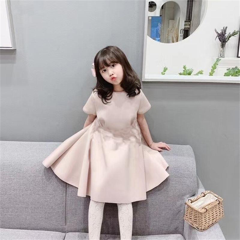 Y7118 Brand Girls' dress 2020 summer children costumes letters double bows Princess dress big girl party dresses Dresses  - AliExpress