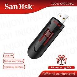 100% Original SanDisk CZ600 USB Flash Drive 16GB 128GB PenDrive 64GB USB 3.0 Pen Drive 32GB USB Stick