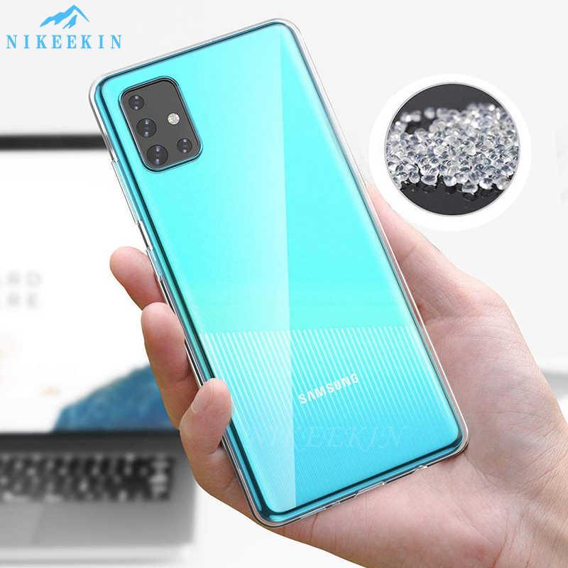 Jelas Lembut TPU Silikon Case untuk Samsung A31 A41 A01 A51 A71 5G A11 A21 A50 A70 A10 A20S a30S A40 A60 M30S Silikon Clear Cover