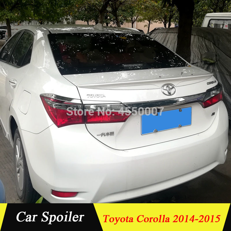 use for <font><b>toyota</b></font> <font><b>corolla</b></font> 2014 <font><b>2015</b></font> <font><b>spoiler</b></font> High Quality ABS Material Car Rear Wing <font><b>spoiler</b></font> for <font><b>toyota</b></font> <font><b>corolla</b></font> image