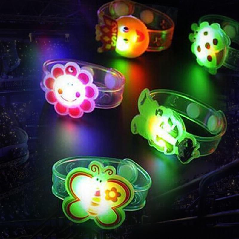 Novelty Toys Multicolor Light Flash Toys Gift For Kid Luminous LED Lights Creative Bracelet Watch Flash Wrist Luminous Toys(China)