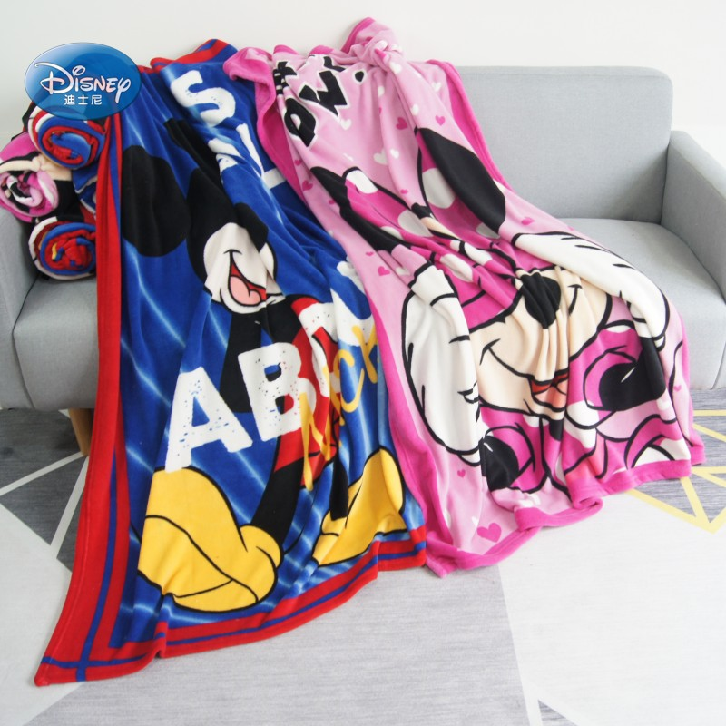 Disney Black and White Polka Dot Pink Minnie Mouse Flannel Blanket Throw 117x152cm for Girls on Bed Sofa Children Birthday Gift(China)