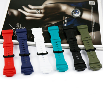 цена на Resin strap case men's watch accessories pin buckle for Casio AQ-S810W AQ-S800W-1A sports waterproof couple watch band