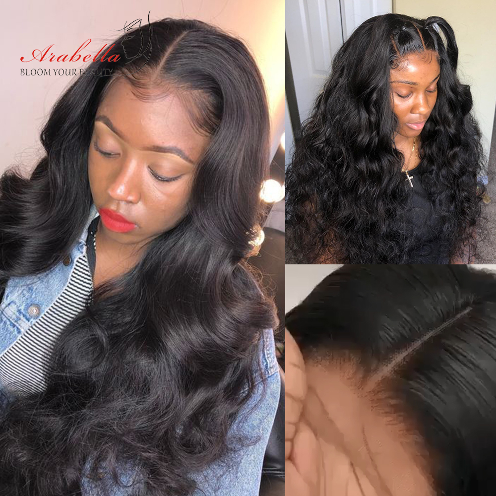 Body Wave Closure Wig 200% Density Arabella 4*4 Lace Closure Pre plucked  Hair 100%  Wigs With Baby Hair 4