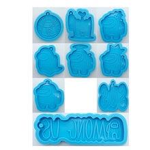 9 видов игры смолы формы силиконовые кулон брелок формы AU персонажа брелоки пресс-форм