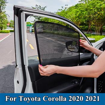 Osłona przeciwsłoneczna do samochodu Mesh wbudowane osłony przeciwsłoneczne do samochodu ochrona UV przednia szyba osłona przeciwsłoneczna do Toyota Corolla 2020 2021 akcesoria tanie i dobre opinie z włókien syntetycznych CN (pochodzenie) Zwykłe For Toyota Corolla 2020 2021 Black Easy Car Sun Shade Car curtains Sunshade Side Window