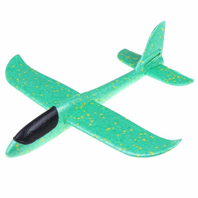 1 pc EPP Foam Hand Throw Airplane Outdoor Launch Glider Plane Kids Gift Toy 37CM Interesting Toys