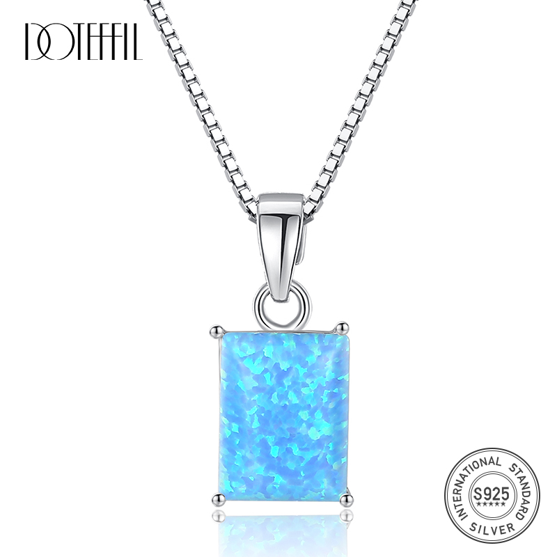 Opal Pendant Opal Necklace Solid Sterling Silver Pendant and Chain