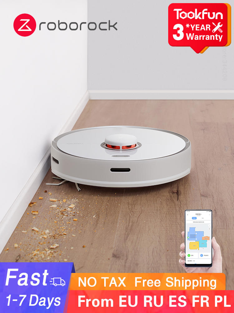 Vacuum-Cleaner Suction Cyclone Dust-Sterilize Washing Max-Robot APP Smart Automatic Roborock S5