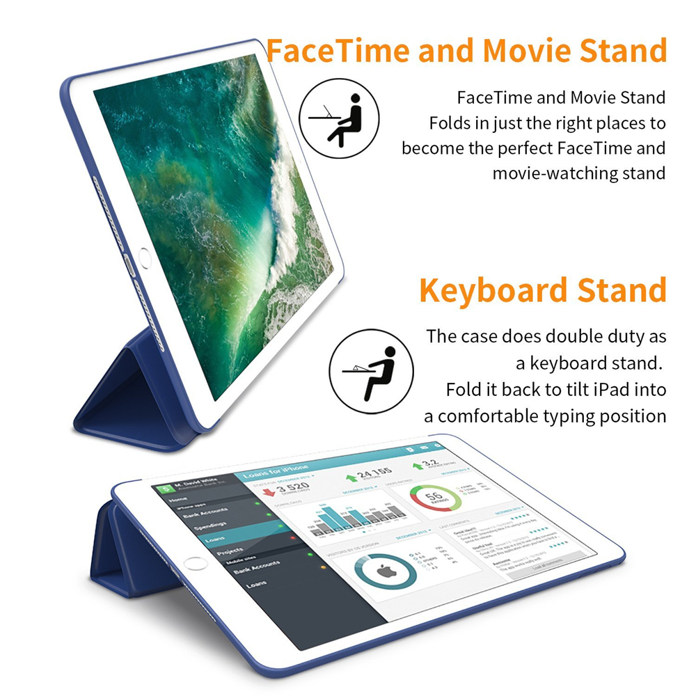 For iPad 9.7 inch 2017/2018 Case for iPad Air 2/3/4 Cover for mini 2/3/4/5 for iPad 2/3/4 Case for Pro 9.7/10.5/11 for iPad 10.2-5
