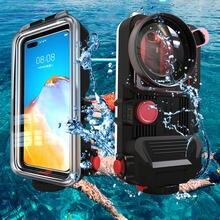 Pour Iphone 12/Huawei Mate 40 Pro/Xiaomi 9 Bluetooth universel téléphone portable boîtier étanche boîtier plongée sous-marine