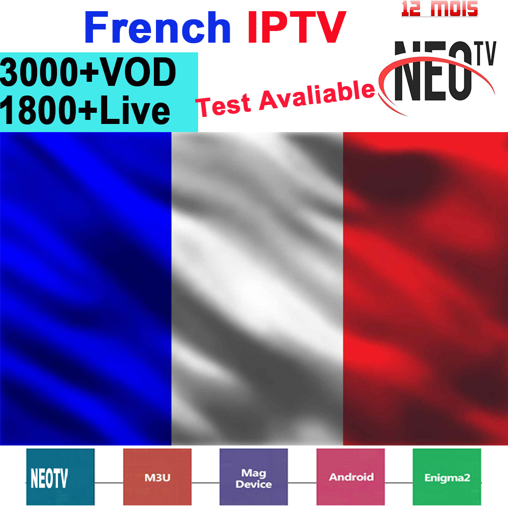French IPTV Subscription NEO TV PRO IPTV Code Support Android M3U Smart Tv PC TV Box Europe France Arabic Italian Live VOD IP TV