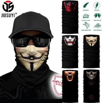 3D Seamless Bandana Multifunction Magic Tube Silk Scarf Vampire Demon Skull Ghost Shield Face Cover Headband Men Women - discount item  25% OFF Scarves & Wraps