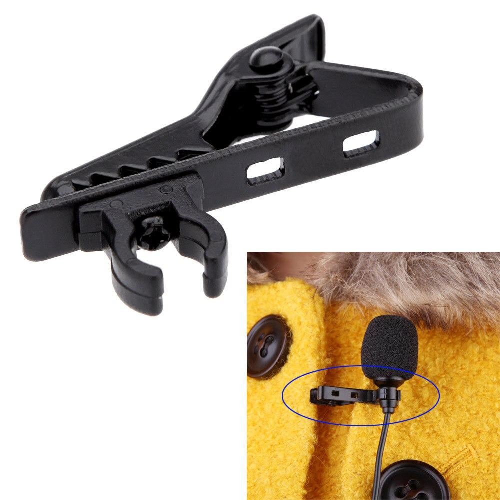 Microphone Lapel Tie Clip For Lapel Lavalier Mic Andoer Foldable Handheld Grip Shoulder Mount Stabilizer Support Rig Kit