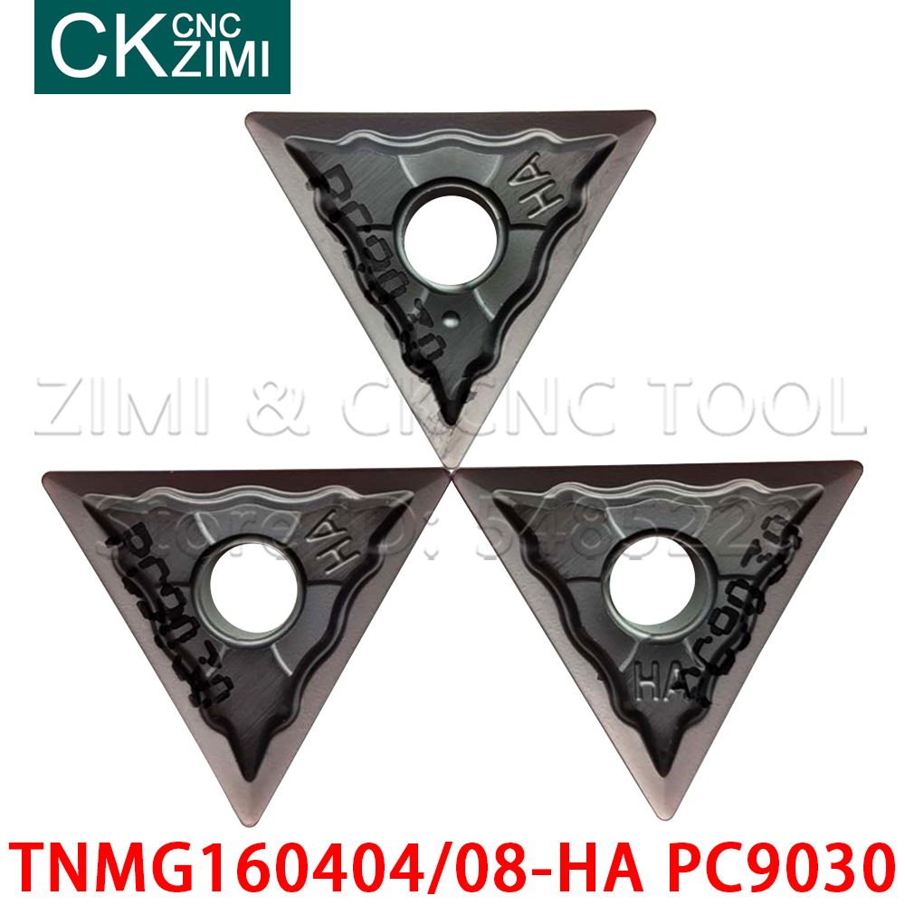 TNMG160404-HA PC9030 TNMG160408-HA PC9030 CNC lathe Cutting blade carbide wood turning <font><b>insert</b></font> tool TNMG <font><b>1604</b></font> For stainless steel image
