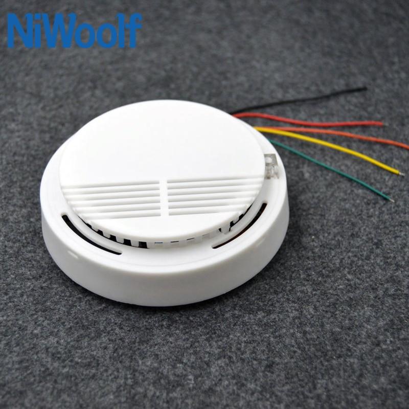 Проводной детектор дыма с поддержкой кабеля NC / NO woring, детекторы дыма и пожарной сигнализации, простая установка