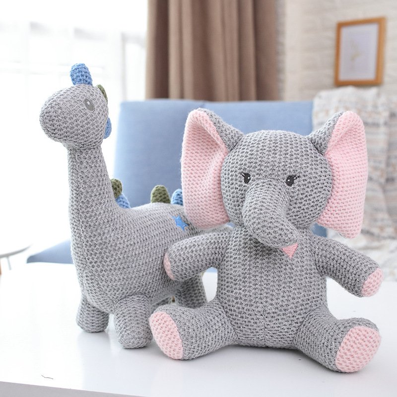 INS Elephant Bunny Lion Plush Stuffed Toy Bunny Doll Soft Toy Doll Baby Nursery Bedroom Decoration Children Sleeping Toy Gifts