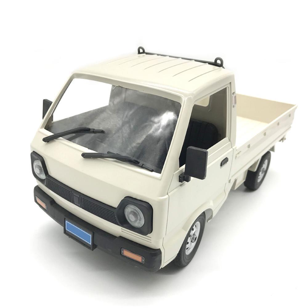 Wpl d12 1/10 4wd rc carro simulação deriva caminhão escovado 260 carro de escalada do motor led luz on-road rc carro brinquedos para meninos crianças presentes