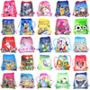 1pc Cartoon Drawstring Bag Santa Claus,Mario School Backpack for Boy ,Girls Unicorn Satchel Bundle Rucksack
