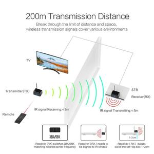 Image 3 - 433MHz Wireless Remote Control IR ultra strong Extender Repeater home TV Transmitter Receiver Blaster Emitter For DVD DVR IPTV