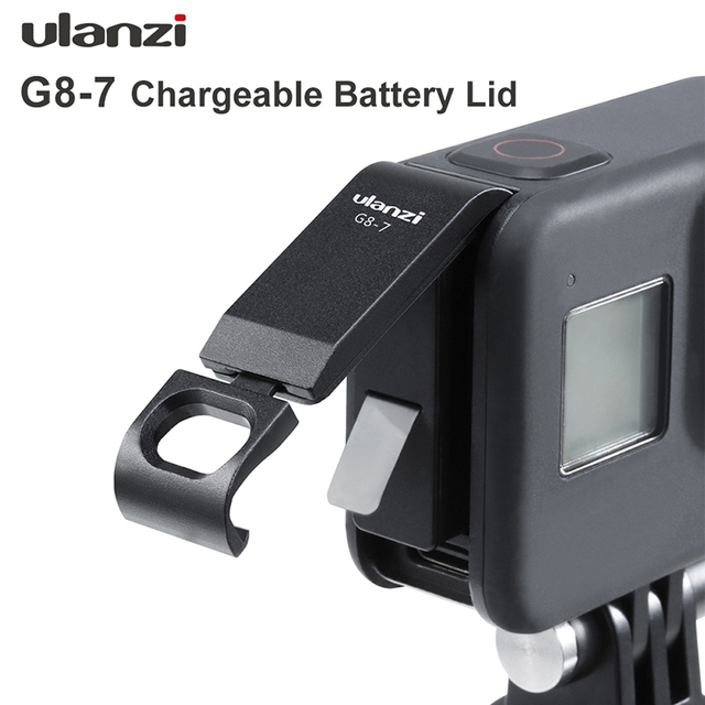 Ulanzi G8 7 Gopro 8 배터리 커버 분리형 배터리 뚜껑 Type C Gopro Hero 8 용 충전 포트