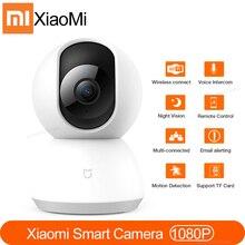 Xiaomi Mini cámara IP Mijia, Wifi, 1080P, HD, visión nocturna infrarroja, 360 grados, inalámbrica, Wifi, cámara web CCTV, cámara de seguridad inteligente para el hogar