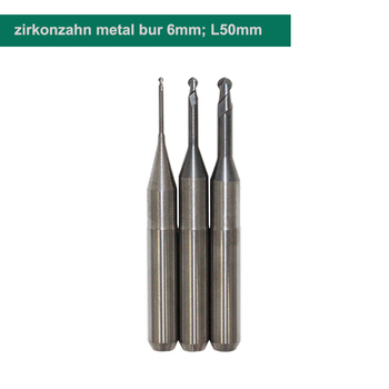 CAD/CAM Milling Bur TITAN (6 mm) for wet milling machine rough milling and precise milling cad for interiors