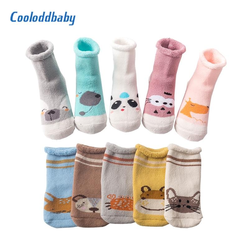 5 Pairs Baby Socks Winter Newborn Baby Girl Socks Knitted Cotton Thickening Warm Infant Kids Boy Socks Baby Sokken 0-3 Y