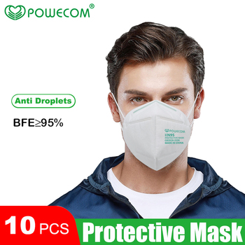 10/20/30/50 pcs KN95 Mask 4 Layer Soft And Breathable NonWoven Mouth Masks Anti Dust Fog  Face Mouth Protective Safety Masks