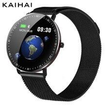 Kaihaiスマートウォッチ水泳アラーム時計ip68 2020 心拍数モニタースマートウォッチサイクリングgps軌道アンドロイドiphone ios