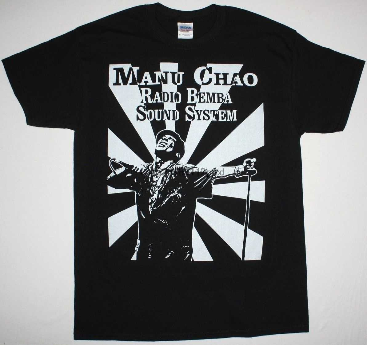 MANU CHAO RADIO BEMBA, sistema de sonido negro camiseta MANO NEGRA SKA PUNK RADIOLINA