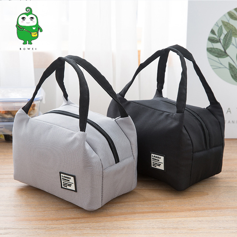 Hand Zipper Container Waterproof Carrying Bento Box Bag Container Bag Food Carrying Of Oxford Cloth Aluminum Foil Insulated Bag