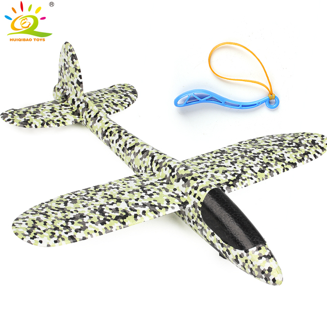 38*37cm 1pcs Foam Slingshot Flying Glider Planes launch Airplane hand throw aeroplane Model Outdoor Sport Plane toys for kid