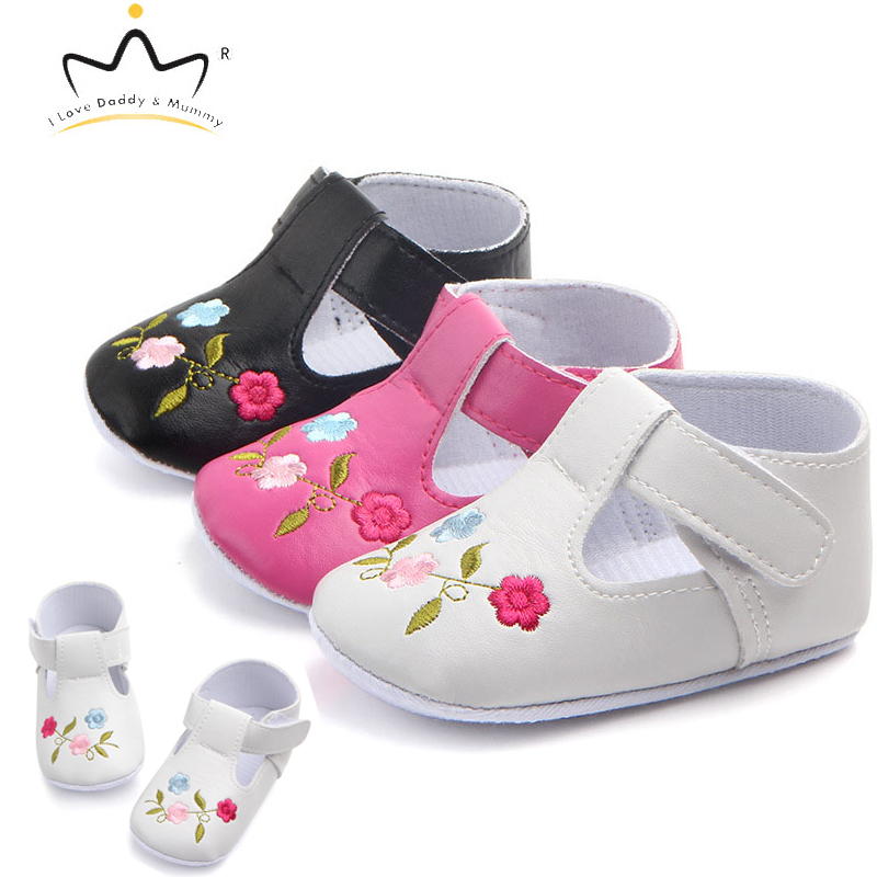 Baby Shoes PU Leather Soft Cotton Newborn Toddler Shoes First Walkers For Baby Girl Cute Flower Non-slip Floral Girls Shoes