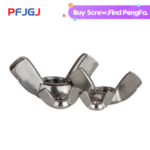 Peng Fa 20/10pcs 304 stainless steel sheep horn nut 201 butterfly disc nuts M3-M12
