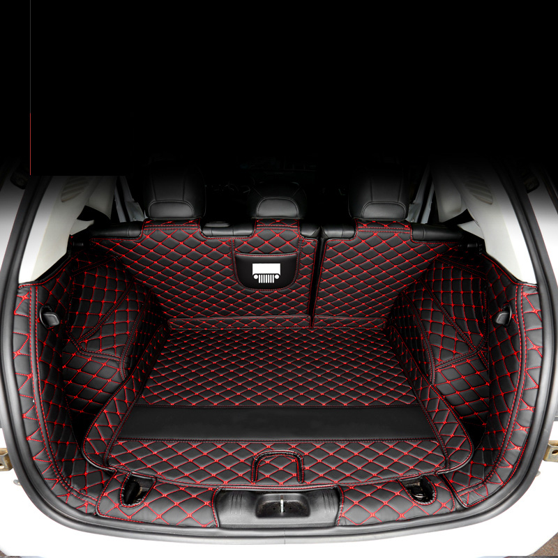 Lsrtw2017  Leather Car Trunk Mat Cargo Liner For Jeep Compass 2016 2017 2018 2019 2020 Rug Carpet Interior Accessories Boot