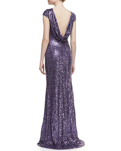 Free Shipping Vestido De Festa Longo Robe De Soiree Paillette Short Sleeve 2019 New Fashion Evening Dress Formal Party Gown