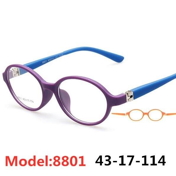 Kids Frames Eyewear Optical Eyeglasses Round Glasses For Children Boys Girls Prescription Lense Oculos Infantil TR 8801