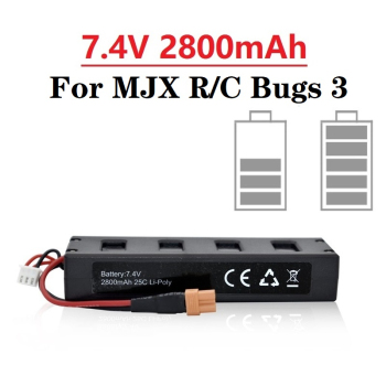 upgraded 7 4v 2300mah 2s 35c li po rechargeable battery with xt30 plug spare parts for mjx bugs 3 6 b3 b6 rc drone quadcopter Original Battery For MJX R/C Bugs 3 7.4V 2800mah 25C Li-po Battery for MJX B3 RC Quadcopter Drone Spare Parts Accessories 1pcs