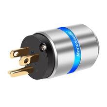 "Monosaudio M106G/F106G 99.998% טהור נחושת hifi ארה""ב גרסה תקע חשמל AC תקע חשמל מחבר 10A/250V 15A/125V אודיו כיתה"