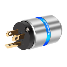 Monosaudio M106G/F106G 99.998% النحاس النقي hifi الولايات المتحدة الإصدار قابس طاقة التيار المتناوب قابس طاقة موصل قابس 10A/250 فولت 15A/125 فولت الصوت الصف
