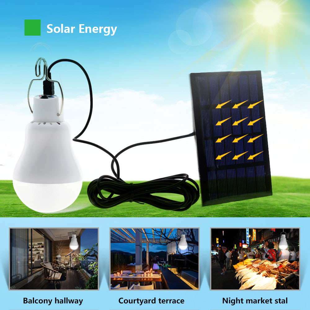 15W 12 Leds Solar Lamp Powered Portable Led Bulb Light High Quality Portable Solar Bulbs Lamp Focus Torch For Home Camping Fish