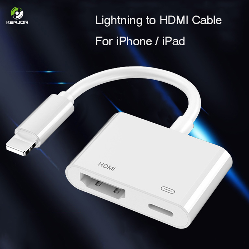 For IPhone To HDMI Adapter 1080P Digital TV Projector Converter For Lightning To HDMI Cable Adapter For IPad IPhone 7 8 XR X XS