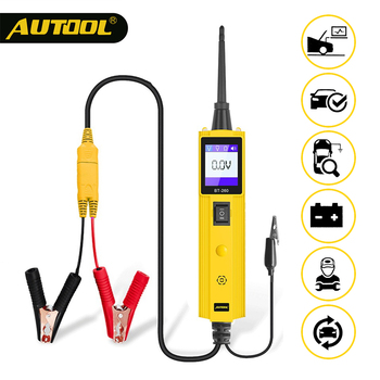 yd208 electrical system circuit tester electrical system diagnostics autek yd 208 power probe more powerful same with pt150 AUTOOL BT260 Car Electrical Circuit Tester Electric Voltage Electrical Component Test Meter LED 12V 24V Power Diagnostic Tools
