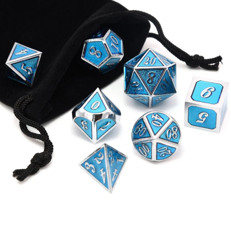Metal Dice Set D&D Polyhedral DND Dice For And Dragons RPG Table Games-DND Metal Dice