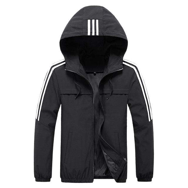 Plus size 6XL 7XL 8XL Jacket Men Windbreaker Spring Autumn Fashion Jacket Men's Hooded Casual Jackets Male Outwear men coat Others Men's Fashion