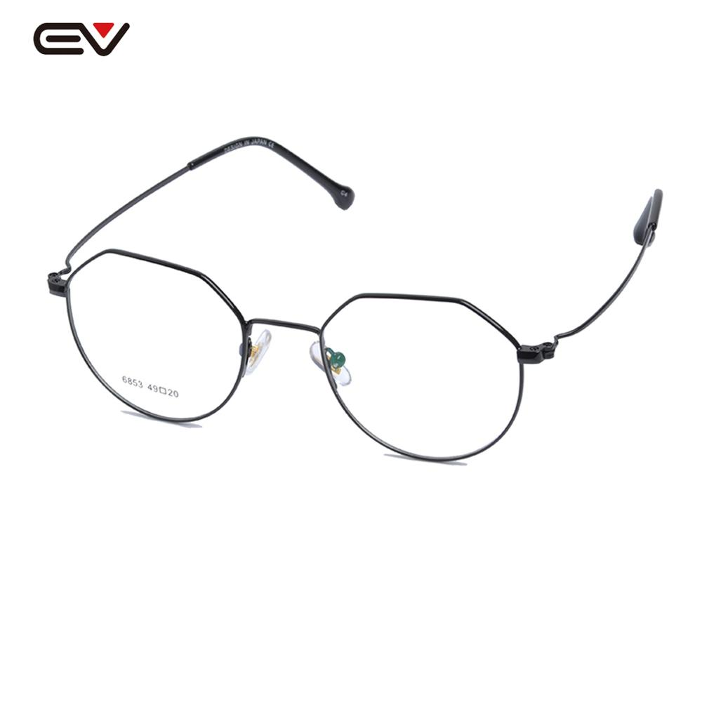Classic Round Metal Clear Lens Glasses Frame W/case Unisex Circle Eyeglasses Non-Prescription Retro Small Prescription  51mm