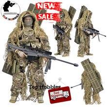 1/6 skala Sniper figurka 12 Cal 30cm żołnierz lalka siły specjalne kombinezon bojowy odzież męska Fit 1/6 mężczyźni Headsculpt Body